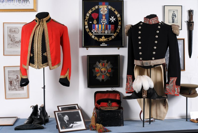 Collection of military memorabilia